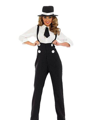 black gangster lady adult costume party delights