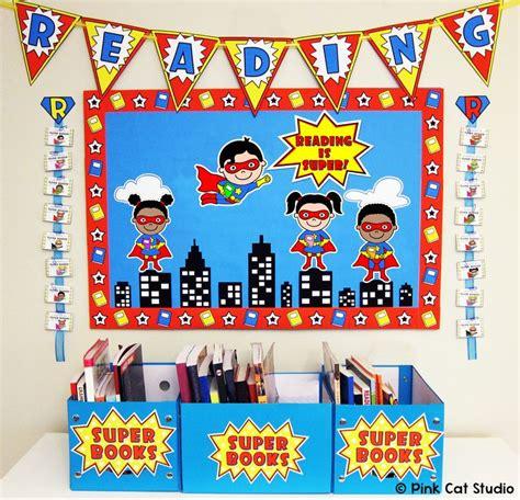 5 themes of reading superhero theme reading bulletin board classroom decor