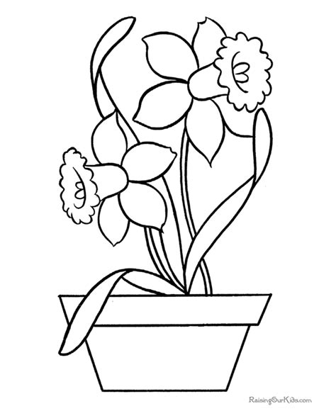 Online Vase Coloring Page Of Flowers Az Coloring Pages
