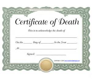 sample death certificate template 11 free word pdf