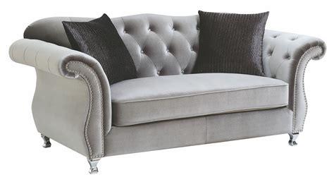 silver loveseat frostine silver loveseat 551162 coaster furniture