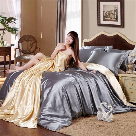 vintage luxury bedding sets 2017 new high quality silk duvet cover bed sheet bed set jogo de