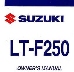 Suzuki Ozark 250 Service Manual 2013 Suzuki Lt F250 Ozark Atv Owners Manual Lt F250