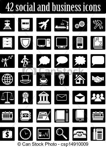 vector business icons set royalty free stock photos image 1095468 social and business icons set vector vector clipart search illustration drawings and eps