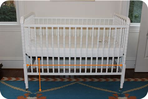 Floor Crib by The Pink Elephant Diy Crib Skirt No Sewing