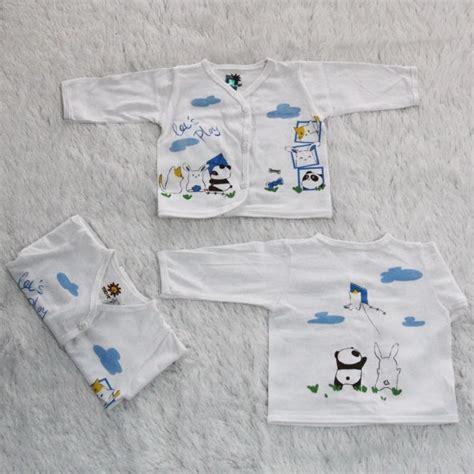 Baju Bayi 1 Lusin 1 Lusin Model Atasan Warna Putih Lengan Panjang Bpp1