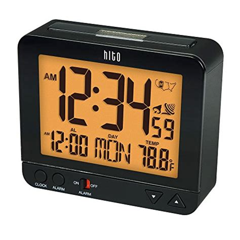 hito 3 8 quot digital battery atomic alarm clock bedside travel auto time set auto light date