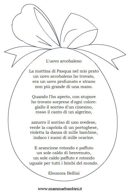 cornici per poesie poesia con cornice l uovo arcobaleno mamma e bambini
