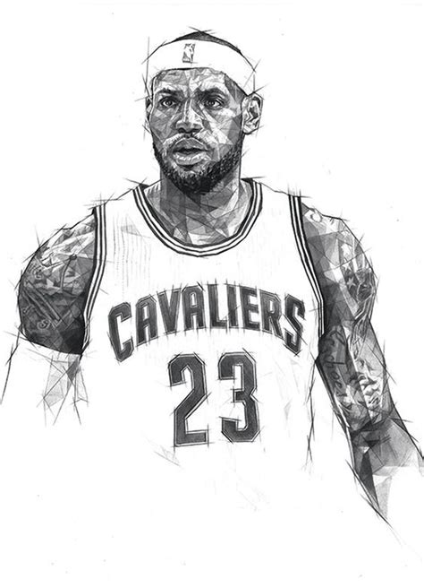 nba coloring pages lebron james cleveland cavaliers free colouring pages
