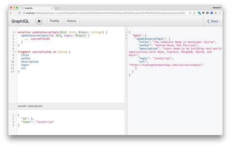 node js query string tutorial creating a graphql server with node js and express