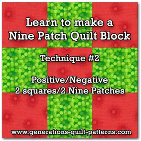 How To Cut Quilt Squares by Nine Patch Quilt Blocks Is As Easy Using Just Two