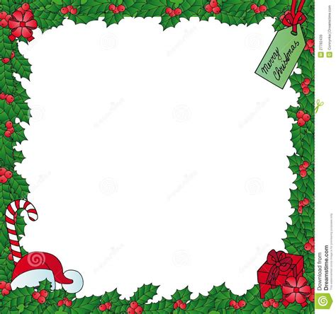 xmas mistletoe frame royalty  stock images image