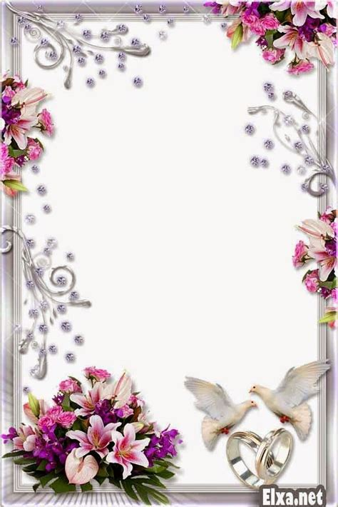 Wedding Frames by Png Frame Wedding Frame Png Flower Frame Png