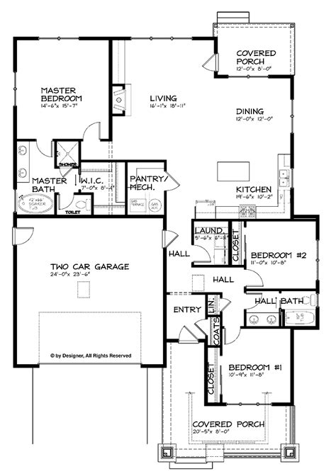 single story house floor plans open floor house plans one story google search house plans pinterest