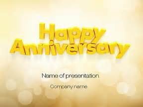 happy anniversary in yellow presentation template for
