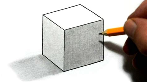 How To Make A 3d Box Out Of Construction Paper - how to draw a cube