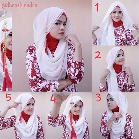 simple tutorial hijab segi empat  hijabiworld