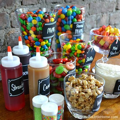toppings for ice cream bar diy ice cream sundae bar