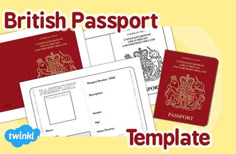 uk passport photo template passport template twinkl favourite twinkl