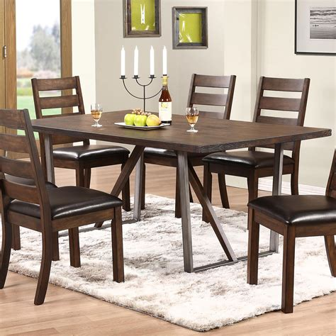 Kendall Dining Room by Winners Only Kendall Dk24072 Trestle Table With Metal Base