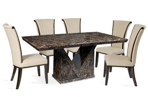 marble dining sets brown furnishings