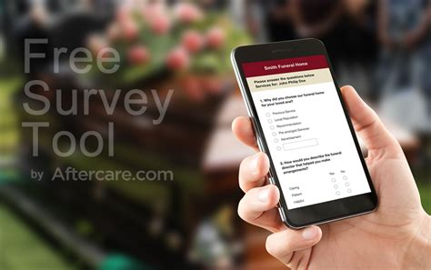 Free Survey Tools - aftercare com launches free survey tool for every funeral home and cemetery the
