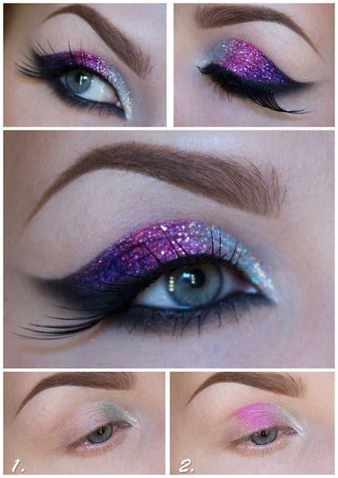 tutorial eyeshadow glitter diy glitter eye makeup tutorial make up ideas pinterest