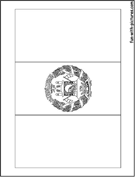 Free Coloring Pages Of Flag Of Afghanistan Afghanistan Flag Coloring Page