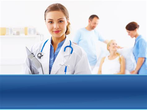 ppt templates free download nurse physicians at work slide templates for powerpoint