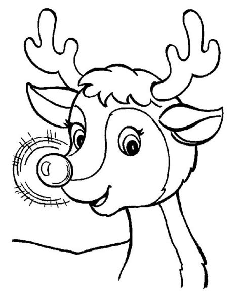 coloring page rudolph reindeer free printable rudolph coloring pages for kids
