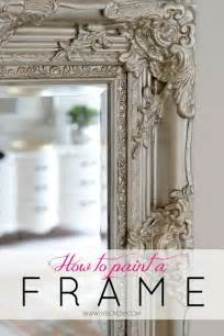 how to paint a mirror frame to give it depth and dimension diy paint chalk paint
