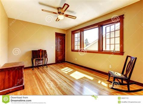 much like the existing gold yellow walls cherry wood trim den remodel craftsman to