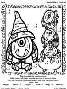 halloween coloring page math division grab a ride let s divide math color by the