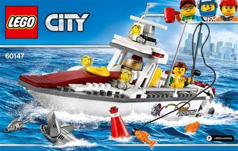 lego city fishing boat lego 60147 fishing boat i brick city