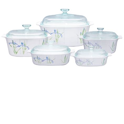 Kitchen Storage Canisters Sets by Corningware Classic Square 10pc Casseorle Set Shadow Iris