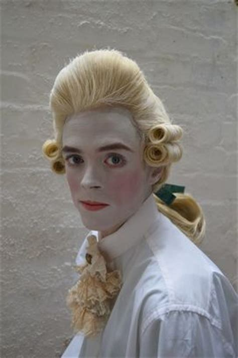 wig makeover for men 18th century mens wig and makeup beauty and the beast