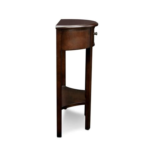 demilune accent table leick favorite finds demilune accent table in chocolate 9030 ch