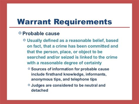 What Is Probable Cause For A Search Warrant Chapter 8