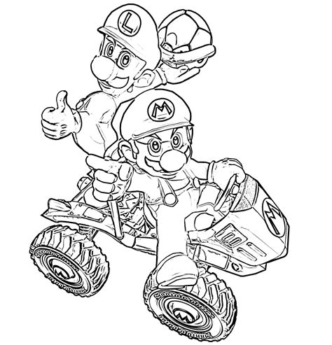 crafty design ideas luigi coloring pages s mansion kart and yoshi