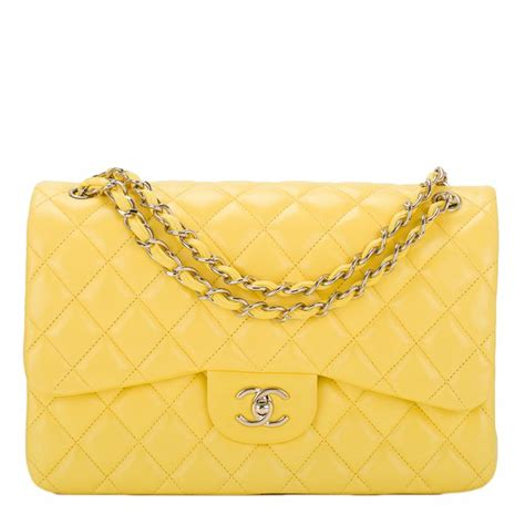 Karpet Mobil 5 In 1 Fashion Chanel chanel quilted lambskin jumbo classic flap bag in bright yellow world s best
