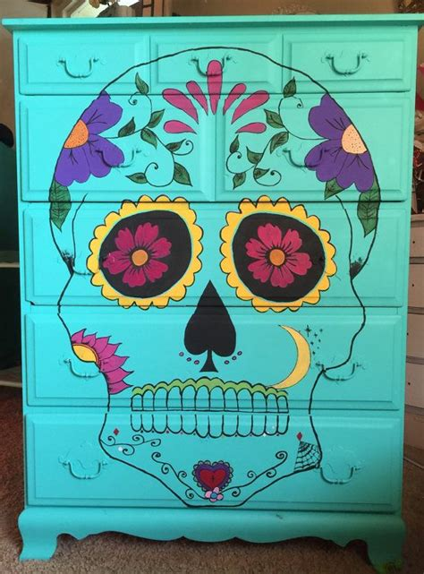 day of the dead bedroom ideas best 25 turquoise dresser ideas only on pinterest