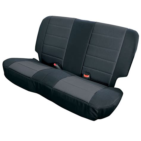 Seat Covers Jeep Wrangler Neoprene Rear Seat Covers Black 03 06 Jeep Wrangler Tj