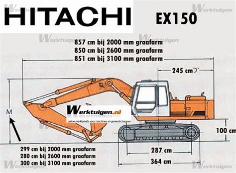 hitachi  hitachi machinery specifications