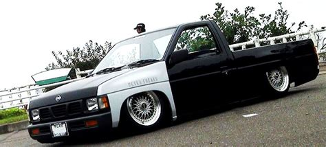 stanced nissan hardbody jdm truck bbs rs watanabe wheels on d21 nissan