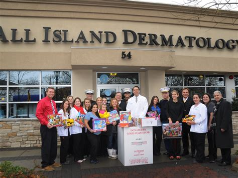 All Island Dermatology Garden City all island dermatology welcomes usmc toys for tots to garden city garden city ny patch