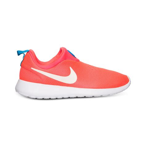 nike sneakers mens nike mens roshe run slip on casual sneakers from finish