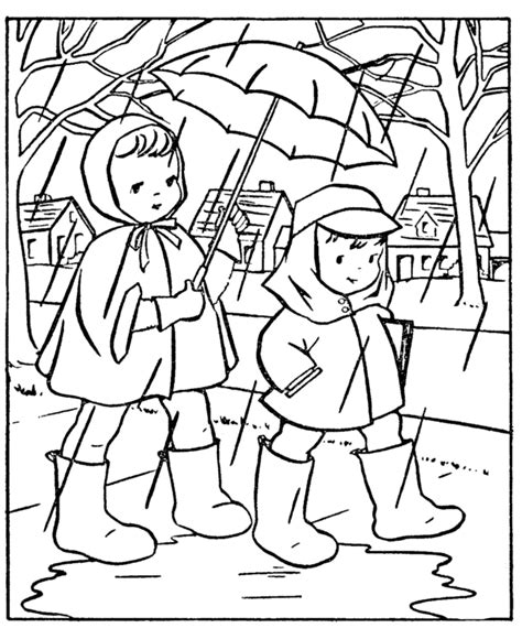 spring coloring pages for middle school spring coloring pages kids going to school in the rain
