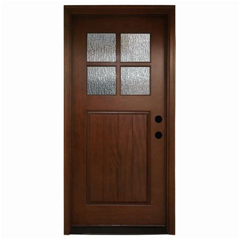 4 Lite Exterior Door Steves Sons 36 In X 80 In Cottage 4 Lite Stained Mahogany Prehung Front Door M6404 Ra