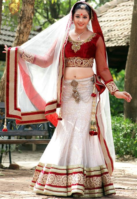 Off #White Net #Lehenga Choli with Dupatta @ $1081.44
