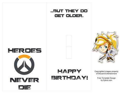 Overwatch Cards Template by Epbot Diy Overwatch Pop Up Card Free Templates